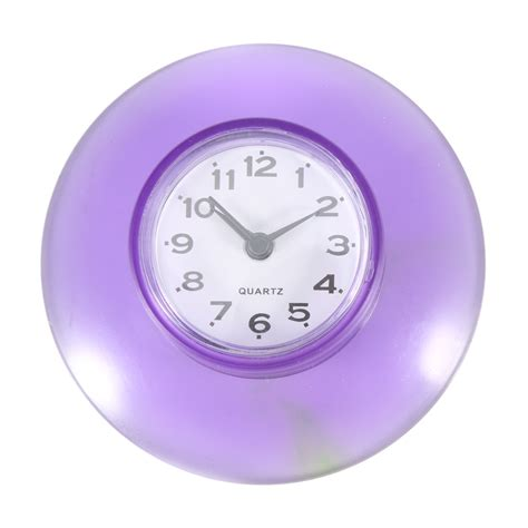 small bathroom clocks round small wall clock suction cup quartz clock waterproof