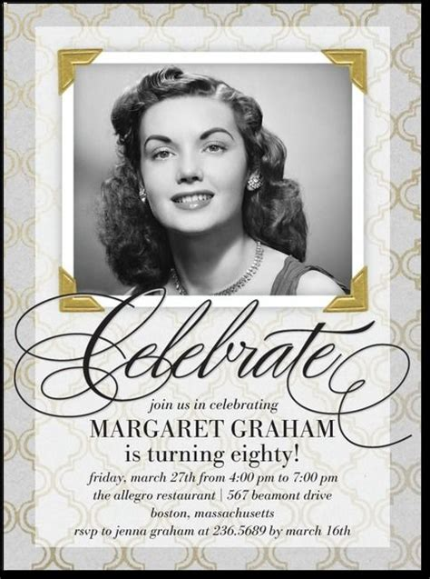 sle invitations for 80th birthday 25 best ideas about 70th birthday invitations on