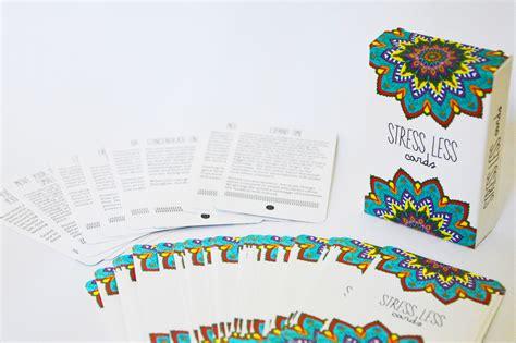 Gift Card For Less - stress less cards stressinhallintakortit englanniksi hidasta el 228 m 228 228 puoti