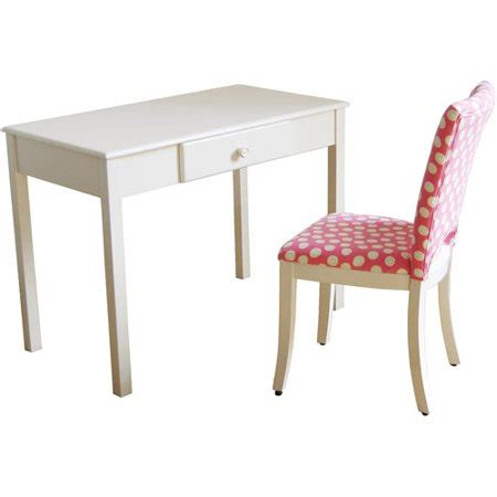 Desk And Chair Sets by Desk And Upholstered Chair Set White And Pink Walmart