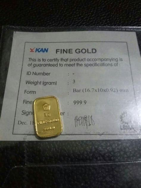 Emas Logam Mulia Antam 3 Gram jual emas batangan antam 3 gram asli logam mulia terbaru