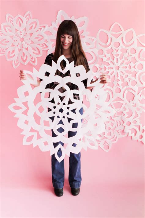 How To Make A Big Paper Snowflake - paper snowflakes