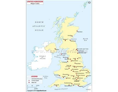map of the united kingdom with major cities uk map with major cities