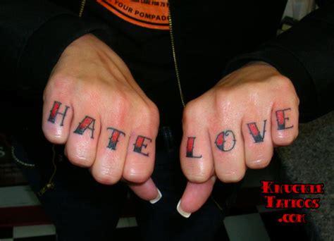 Tattoo Knuckles Love Hate | hate knuckletattoos com