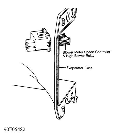 2005 grand marquis blower motor resistor location heater fan does not work