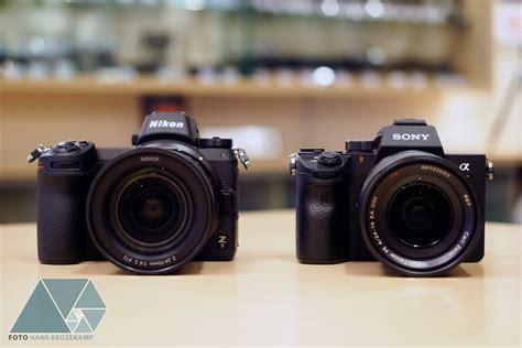 canon frame sony a7 nikon z7 and canon eos r frame mirrorless
