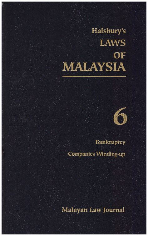 Winding Up Of Section 25 Company by Halsbury S Laws Of Malaysia Volume 6