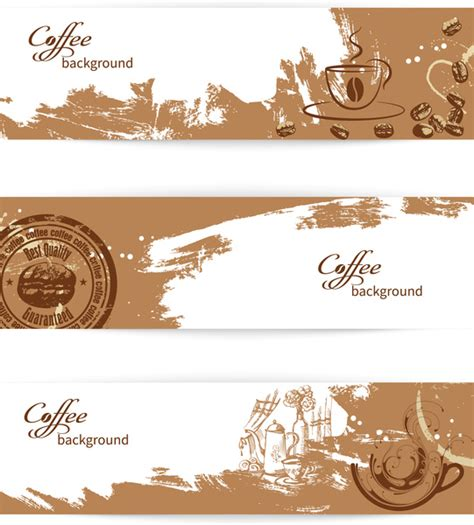 banner cafe design vector vector coffee background free vector download 45 571 free