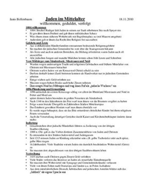 Handout Schreiben Muster handout zum referat quot juden im mittelalter schulhilfe de
