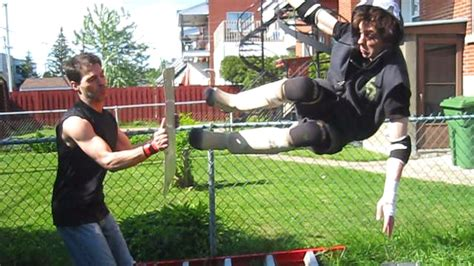 chw backyard wrestling ric roberts c vs david storm chw chionship backyard