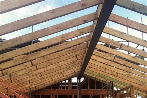 Patio Layout by Structural Steel Ridge Beams Ezed