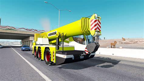 gru mobile grue mobile liebherr dans le trafic pour american truck