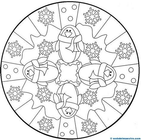 imagenes de mandalas navideñas para pintar mandalas para colorear web del maestro