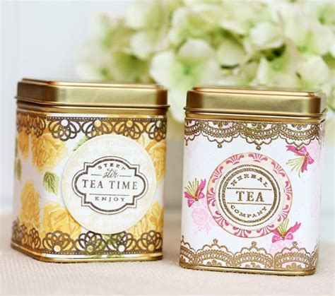 Happy Friday Tea Tins by St Your Own Vintage Tea Tins Damask