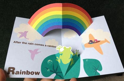 Rainbow Pop Up Card Template 1000 images about nana cards on card