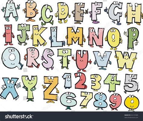 animal alphabet character stock vector alphabet characters vector stock vector 92137495