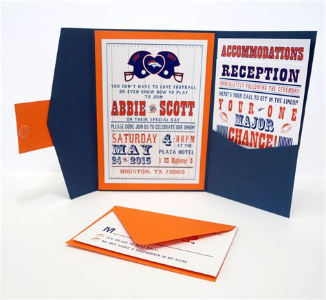 football wedding invitation amazingly tailored for you with