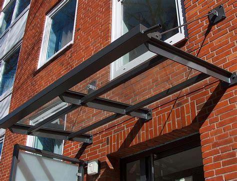 Vordach Stahl Glas by Vord 228 Cher Johannsen Metallbau