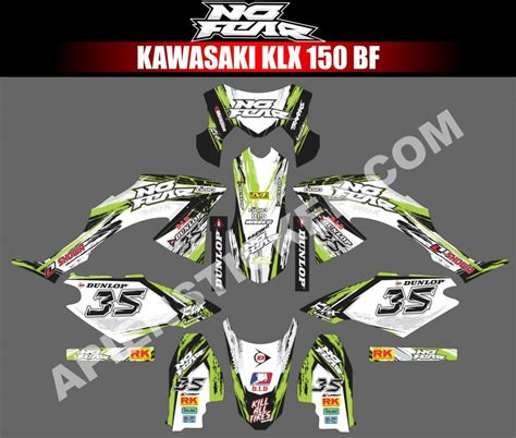Decal Striping Sticker Klx Bf 009 Glossy striping motor kawasaki klx bf 150 no fear apien sticker