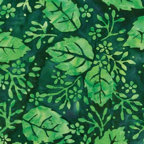 Batik Green clothworks batik fb005 22 bright green leaf clusters on