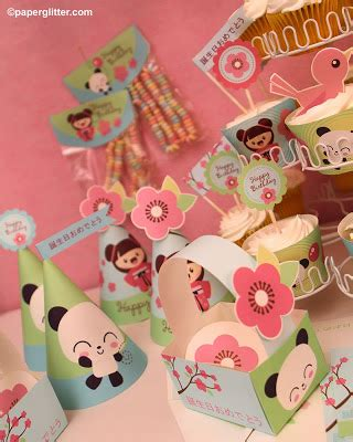 printable japanese paper crafts paper glitter cute downloads printables paper crafts