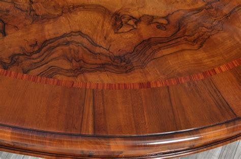 mobili in radica grande tavolo ovale di lusso intarsiato in radica e bois