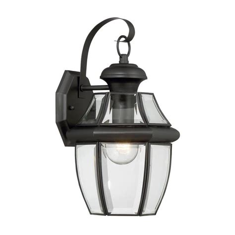 Portfolio Outdoor Lights Shop Portfolio Brayden 14 13 In H Mystic Black Outdoor Wall Light At Lowes