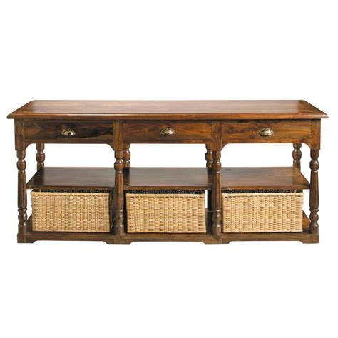 console maison du monde table console en bois de sheesham massif l 180 cm luberon