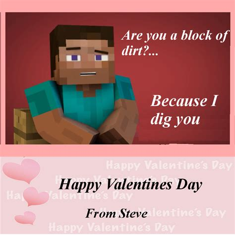 cheesy valentines day up lines cheesy valentines card minecraft by pickleplayer on