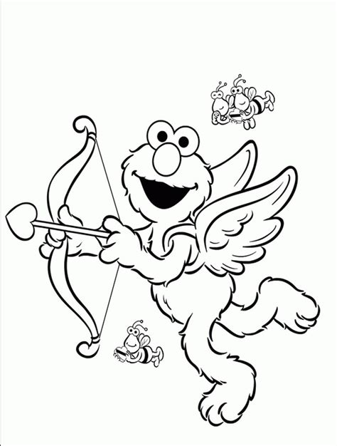 elmo coloring elmo and friends coloring pages coloring home