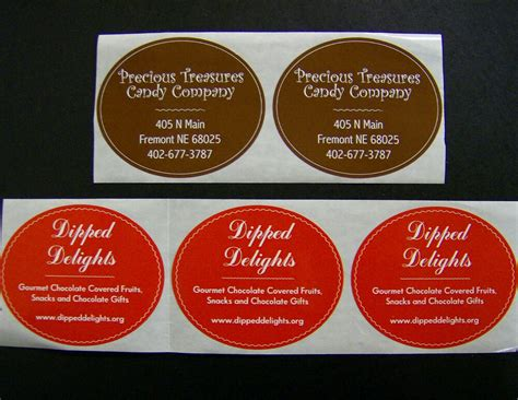 Business Sticker Labels