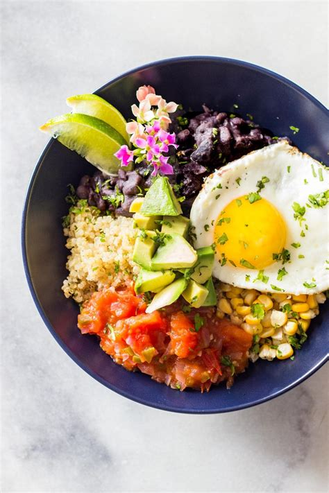quinoa breakfast bowl green healthy cooking