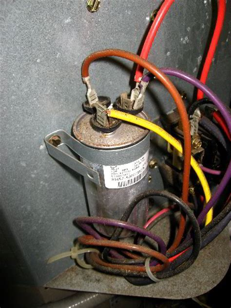 replace hvac dual run capacitor with two capacitors hvac combo start capacitor replacement 014