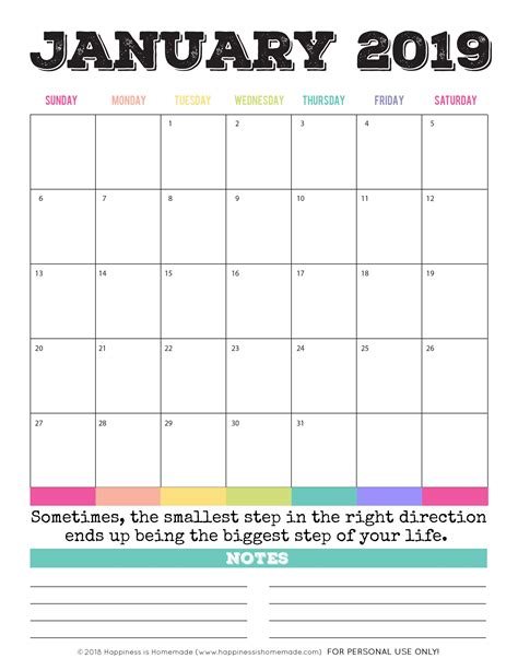 Free Printable Calendars For 2018 And 2019 This Free Printable Monthly Calendar Set Includes Monthly Calendar Template