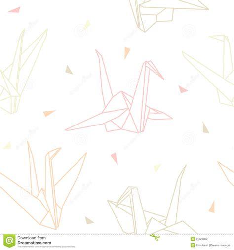origami paper cranes set sketch seamless pattern black seamless pattern with white cranes vector illustration