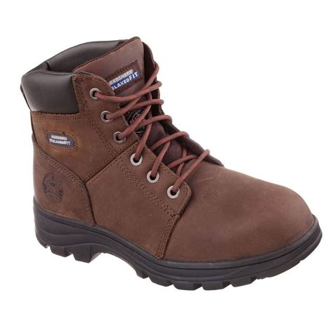 skechers work boots for skechers workshire size 9 5 brown leather work