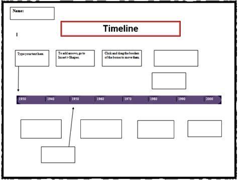 Timeline Template K 5 Computer Lab Technology Lessons Microsoft Word Timeline Template