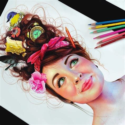 pencil drawings beautiful colored pencil drawings
