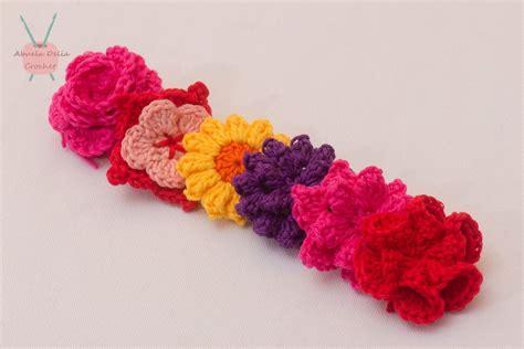 apliques y accesorios flores de crochet para apliques y accesorios varios