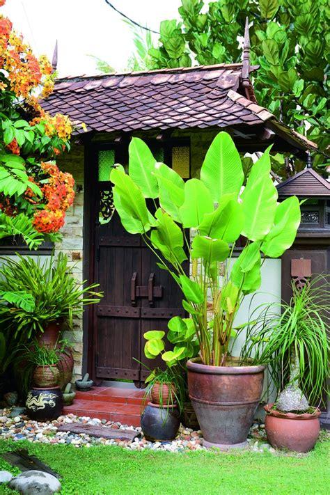 gambar laman tradisional rumah teres  ringkas