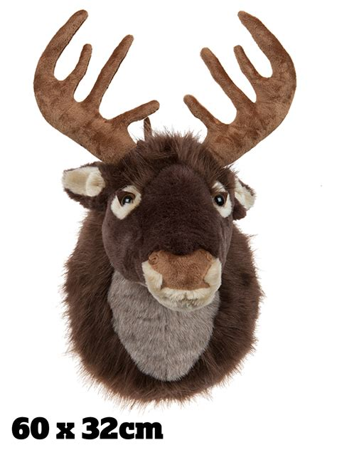 singing reindeer head stag motion activated door mounted