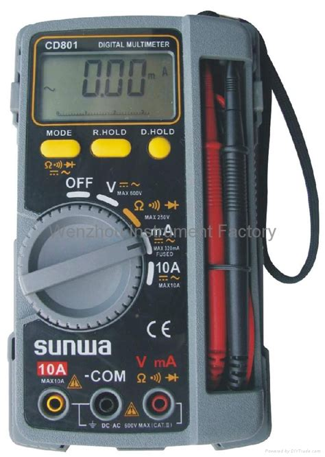 Multimeter Sunwa Digital multimeter cd 801 sunwa china manufacturer other