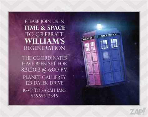 Tardis Invitation Template Party Invitations Ideas Tardis Invitation Template