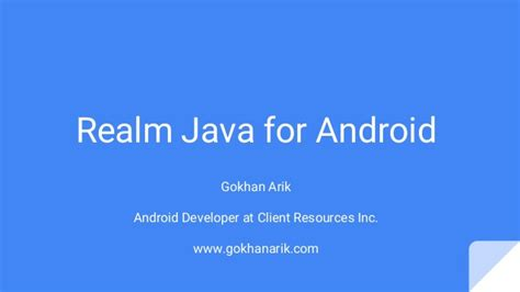 java for android realm java for android