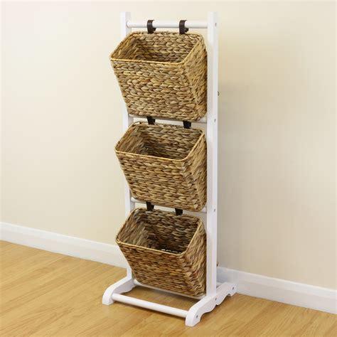 wicker stands bathrooms sale 3 tier white hanging wicker basket storage stand