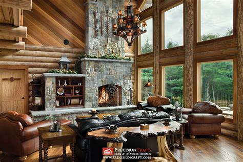 Colorado Kitchen Designs log home great room precisioncraft log homes www