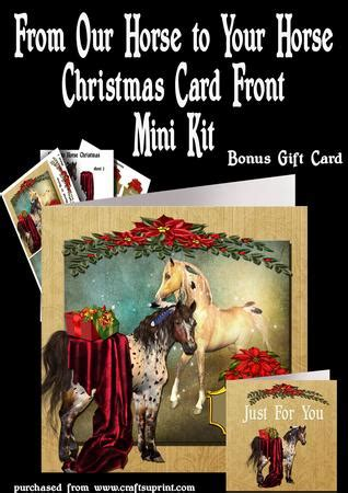 printable horse christmas cards from our horse to your horse christmas card gift card