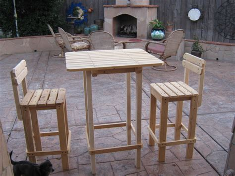 outdoor bar table plans  woodworking