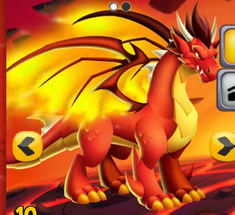 Dragon City Free Gems Giveaway - flame dragon 3 png