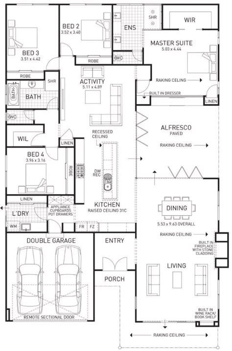Fireplace Floor Plan by Floor Plan Friday Family Home With Built In Fireplace